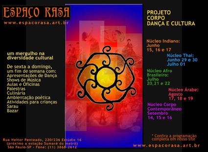 Projeto Corpo, Dança e Cultura - flyer