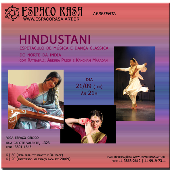 Hindustani - espetáculo de Kathak e música